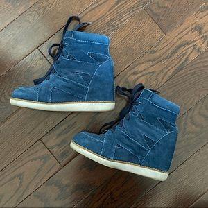 Jeffrey Campbell Venice-Hi Wedge Sneakers - 6
